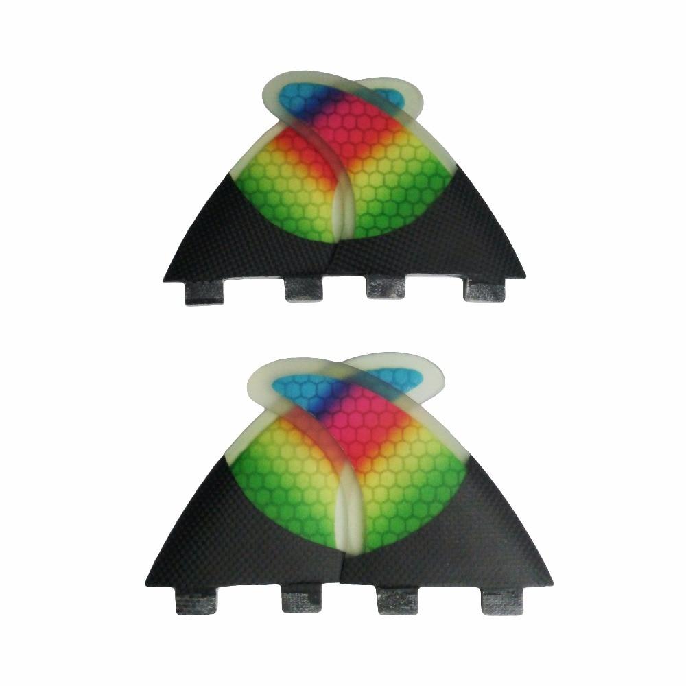 FCS Surf Ailettes G5 + K2.1 Honeycomb Fins SUP Planche De Surf FCS Quad Fin Future Base Planche De Surf Ailettes Quad Ensemble