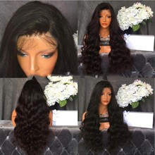 Thick Hair Body Deep Wave Brazilian Virgin Full Lace Human Hair Wigs Thick Density 180% Glueless Front Lace Wig 8-26 Inch