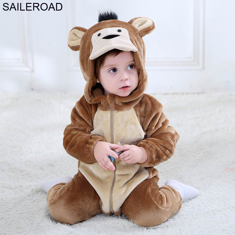 SAILEROAD Animal Monkey Pajamas With A Zipper For A Child Baby Blanket Sleepers Sleeping For Girls Newborn Bodysuit Clothes