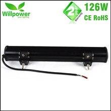 Waterproof combo beam 10100lms 20 inch 126w offroad led light bar work light 4×4 car LED light bar 12v wiring harness