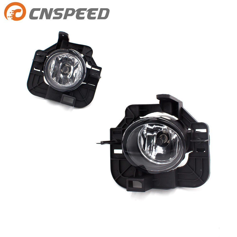 CNSPEED Clear Lens Fog light for Nissan Altima 2008-2009 fog lamps Bumper Fog Lights Driving Lamps YC100934-CL 1pair clear lens fog lights bumper driving lamps with bulbs for nissan altima sedan 2007 2012