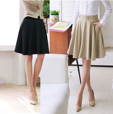 Skirts Womens 2016 Spring Summer Plus Size Skirt Casual Slim Pleated Skirts Skirts Female Fashionable Saias Femininas