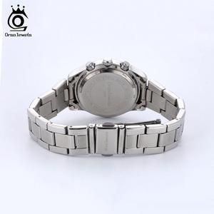 Image 5 - ORSA MÜCEVHER 316L Paslanmaz Çelik Kadın Izle Moda Bayan kuvars bilek saatleri Gümüş Renk Bilezik Su Geçirmez Izle OOW11