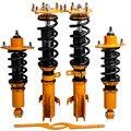 Набор подвесок для гоночных автомобилей для HONDA CRV 2007-2011 катушки пружины стойки Регулируемая высота езды амортизаторы + верхние крепления