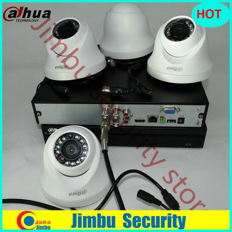 Dahua 720P hdcvi kit 4ch surveillance system XVR4104HS Video Recorder 4pcs HDCVI HAC-HDW1100C IR20M cctv security camera dahua hdcvi 1mp camera hac hdw1100c dome cmos 720p lens6mm ir 20m ip66 security camera hdw1100c
