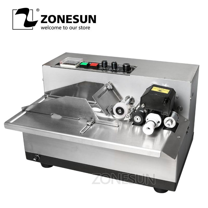 ZONESUN MY 380 coding machine Semi Automatic Solid Ink Date Coding Machine automatically continuous date coding