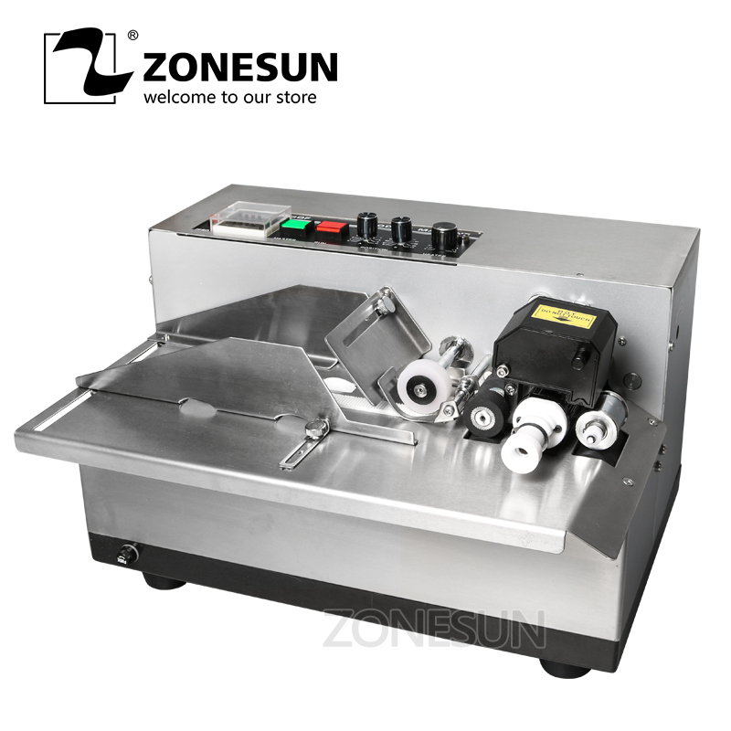 ZONESUN MY 380 coding machine Semi Automatic Solid Ink Date Coding Machine, automatically continuous date coding machine-in Food Processors from Home Appliances    1