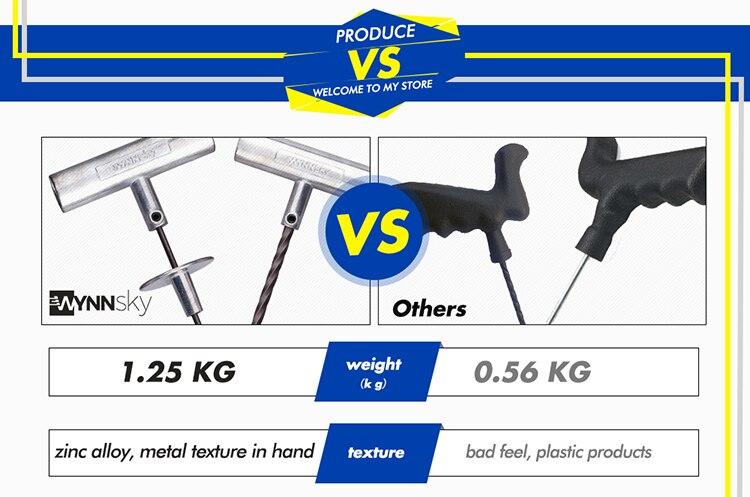 ᐊWYNNsky 60 unidades reparación de neumáticos Kit de herramientas ...