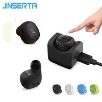 JINSERTA Small Single Earbuds Hidden Invisible Earpiece Micro Mini Wireless Headset Bluetooth Earphone Headphone for IPhone X 8