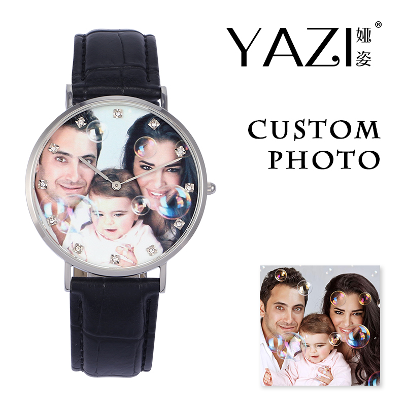 YAZI Personalized Custom Quartz Watch Photo Brand Your Own Picture Male Watch Unique Souvenir And Gift For Women Watches