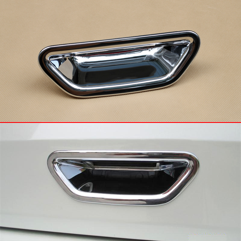 Car Rear Trunk <font><b>Door</b></font> <font><b>Handle</b></font> Cover Trim For <font><b>Nissan</b></font> <font><b>X</b></font>-<font><b>Trail</b></font> Rogue T32 2014-2019 XTrail Glossy Chrome Protector Accessories image