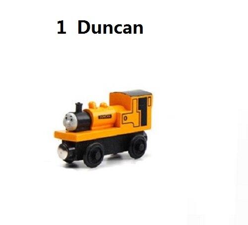 Деревянные магнитные паровозики, игрушки для железной дороги, деревянные паровозики для детей, подарок для детей, модель поезда - Цвет: Белый