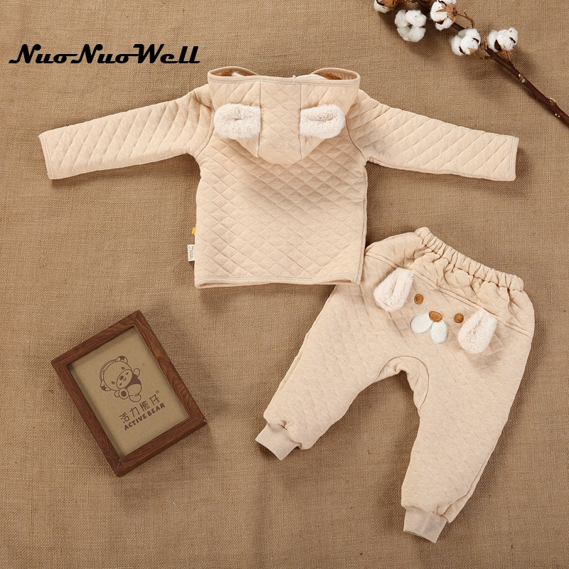 NNW 17 Kids Boys Girls Hooded Jacket Children Sets in Winter Baby Suit Warm Jacket Coat+Pants 2PCs Kids Thicker Clothing Sets 2015 new autumn winter warm boys girls suit children s sets baby boys hooded clothing set girl kids sets sweatshirts and pant