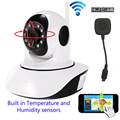 HD 720P Wifi IP Camera P/T Night Vision Infrared Two Way Audio SD Card Slot Security Camera Wireless Temperature humidity sensor