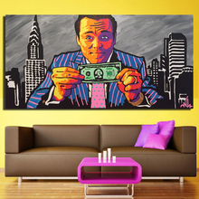 Graffiti Street Art Money And Figure Classical Canvas Painting Wall Art Printed Oil Painting For Living Room Home Decor