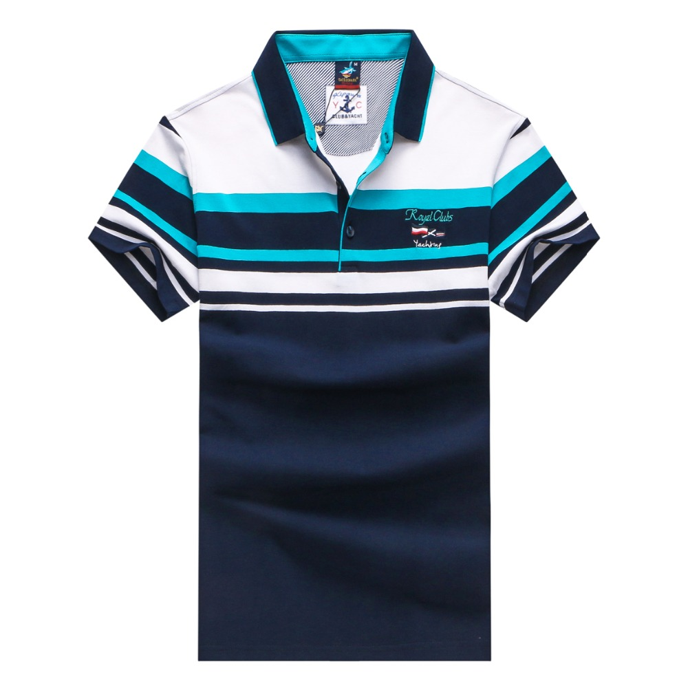 Brand new summer style Cotton men Clothing Male Slim Fit Polo Shirts Man Polo Shirts Casual Polo Shi mens tops strip NO0012