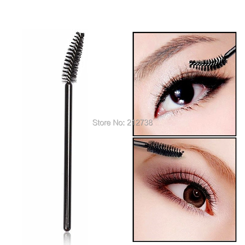 100PCS Disposable Micro Eyelash Brushes Mascara Wands Applicator Wand Brushes Eyelash Comb Brushes Spoolers Makeup Tool Kit-B5