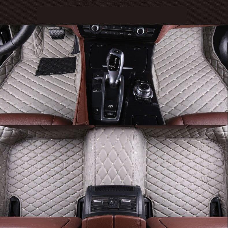 Tapis de sol Auto pour Audi A3 Sportback 2014-2017 tapis de marche tapis de haute qualité tout nouveau tapis en cuir de broderie