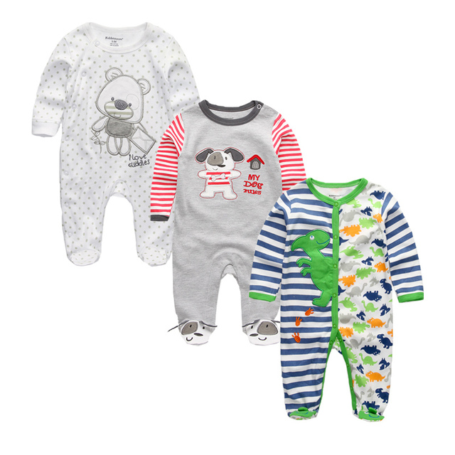 ea7f57d22 Newborn Baby Boys Rompers Baby Girl Clothes 100%Cotton Long Sleeve ...