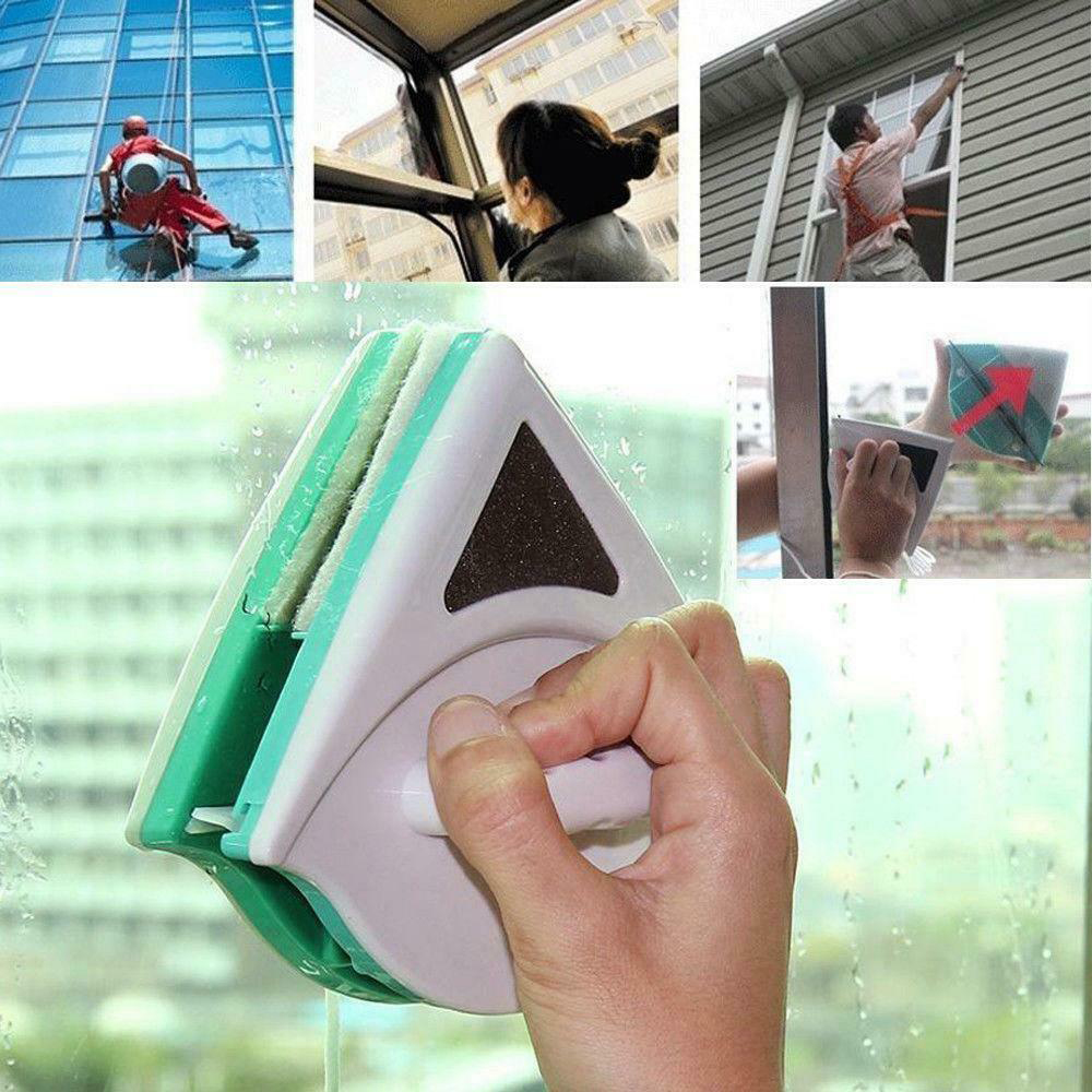 1 Pc Magnetische Window Cleaner Dubbelzijdig Nuttig Glass Window Cleaner Draagbare Oppervlak Reinigingsborstel Wisser 3 Maten Gediversifieerd In Verpakkingen