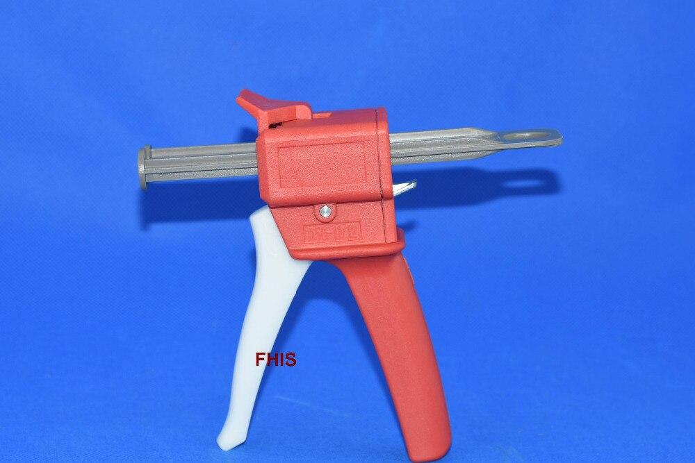 Epoxy resin AB Glue caulking Gun/cartridge 50 ML 2:1 & 1:1 Universal Manual Dispense mixing Gun Adhesive bonding extrusion tool пистолет клеевой dremel glue gun 930