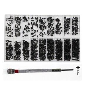 500 шт., 18 видов винтов из нержавеющей стали для ремонта часов и ноутбуков