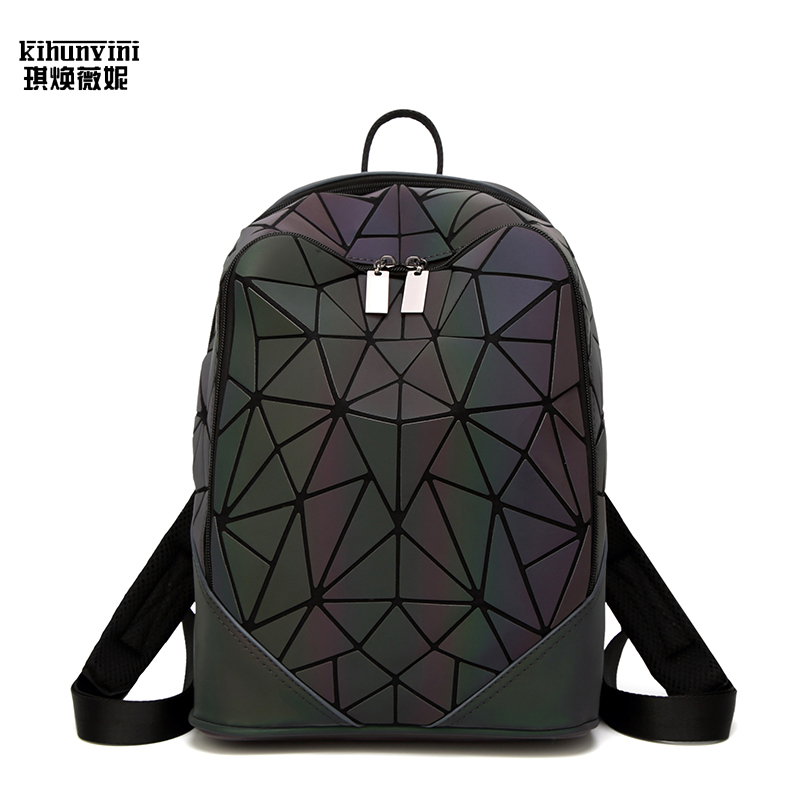 Women Backpack Geometric Luminous Backpacs Famous Designer High Quality Luxury Bags Schoolbag Back Pack Holographic Shoulder Bag