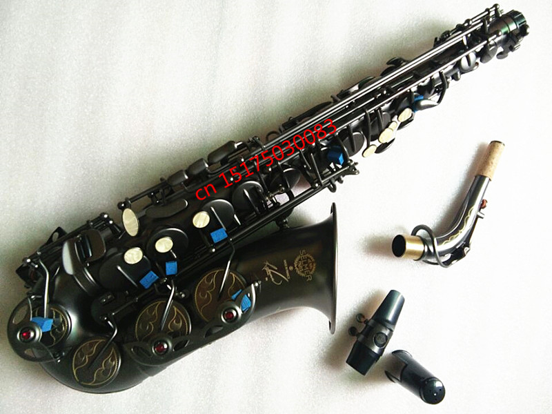 New saxophone Alto R54 All Black High-quality France Henri Selmer Alto Saxophone Professional level Musical Instruments Sax чехол для декоративной подушки розовая гортензия 45х45 см p802 8920 1 1058620