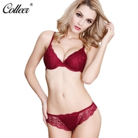 COLLEER Sexy Lingerie Push Up Women S Underwear Set Bralette Lace Bra Thin Cup Transparent