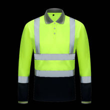 efa1b0d158 Oi Vis two tone manga longa amarelo peso leve camisa de segurança refletivo  100% trabalho camisa frete grátis