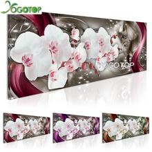 YOGOTOP DIY Diamond Painting Cross Stitch Kits Orchids flower 5D Diamonds Embroidery Home Decor Full Mosaic Pattern QA036