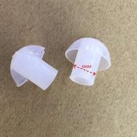 Oppxun 50 unids puntas de las orejas de reemplazo de silicona auricular para baofeng radio de dos vías auriculares tubo acústico del auricular del tubo de aire auricular