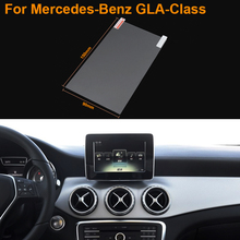 Car Styling 7 Inch GPS Navigation Screen Steel Protective Film For Mercedes-Benz GLA-Class Control of LCD Screen Car Sticker
