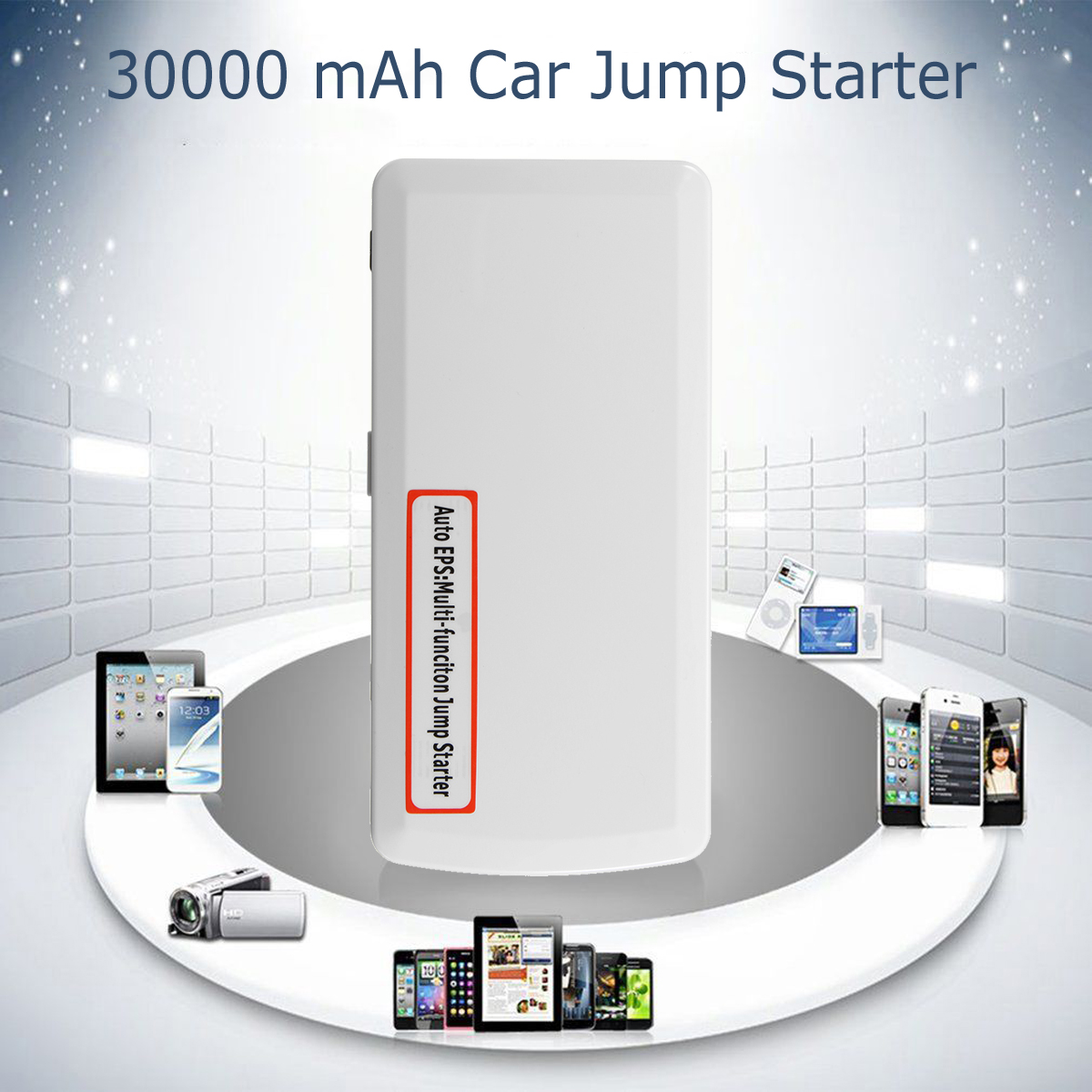 2 USB Portable Car Jump Starter 30000mAh Vehicle Emergency Power Bank Multifunction Car Battery Booster Charger Starting Devices