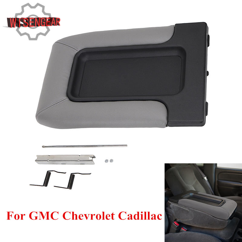 WISENGEAR Car Interior Center Console Armrest Lid Cover For Chevrolet Cadillac Escalade GMC Sierra Yukon 2001-2007 PDK678 //