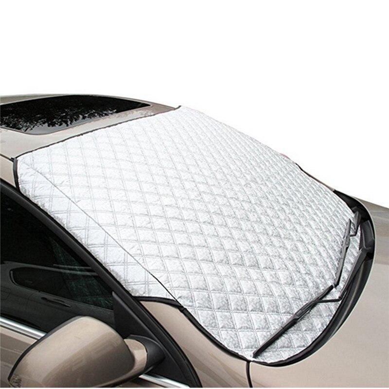 Protector de invierno para el parabrisas del coche, cubierta delantera antinieve, Protector contra el hielo, Protector contra el polvo, estera térmica para el sol