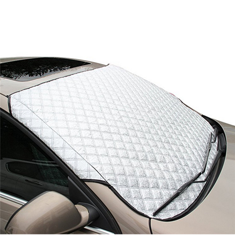 Winter Car Windscreen Windshield Front Cover Anti Snow Frost Ice Shield Dust Protector Heat Sun Mat image