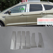 цена на Car Accessories Exterior Stainless Steel Window Centre Pillars Cover Molding Trim For Ford Kuga/Escape 2017 Car-styling
