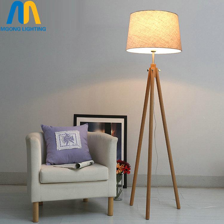 US $140.5 50% OFF|Moderne led schöne holz design boden lampen stehlampe  japan mit tuch schatten für wohnzimmer schlafzimmer esszimmer studie-in ...