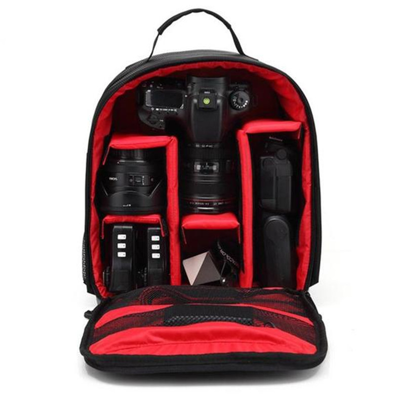 Waterproof DSLR Backpack Video Digital DSLR Camera Bag Multi-functional Outdoor Camera Photo Bag Case for Nikon Canon DSLR Lens (9)