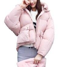 Winter Coat women 2017 Long sleeve Hooded Short Padded Down Jacket Parka Female Girls Cotton Coats Women Clothing Plus size