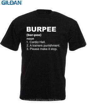 Camiseta de verano estilo de los hombres T camisa Panoware hombres Burpees  y los propulsores y