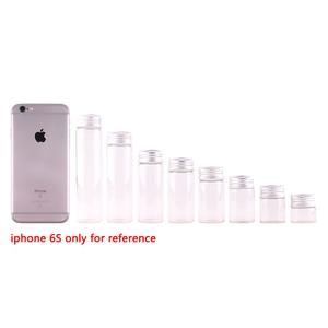 Image 2 - Frascos de terrario transparente con tapa de tapón roscado plateado, 10ml, 15ml, 20ml, 25ml, 30ml(1OZ), 40ml, 50ml, 60ml(2OZ), botellas de especias de vidrio, 24 uds.
