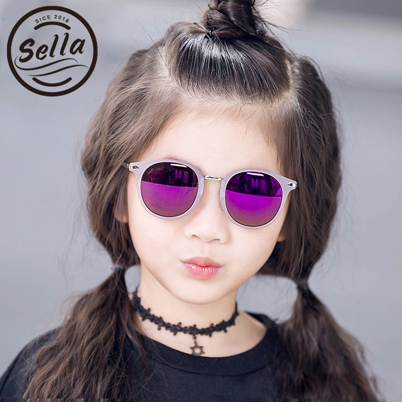 2017 New Arrival Fashion Kids Sunglasses Polarized Children Colorful Mirror Lens Classic Round Cute Boys Girls Sun Glasses