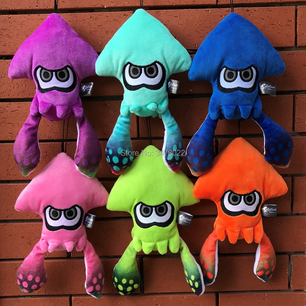 Splatoon Allstar Collection Squid Plush Toy Judge Cute Anime Game