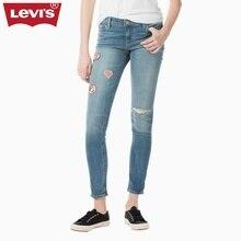 Levi's Новая Весна Серии 711 Плотно Тенденция Дамы Джинсы Мода Новые Джинсы Отверстие