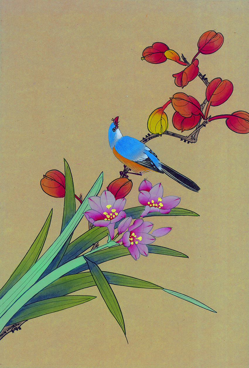 Canvas Art Picture Print Painting Chinese Watercolor Flowers and Birds Oil Painting on Canvas Wall Art Picture for Home Decor in Painting Calligraphy from Home Garden