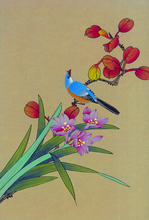 цена на Canvas Art Picture Print Painting Chinese Watercolor Flowers and Birds Oil Painting on Canvas  Wall Art Picture  for Home Decor