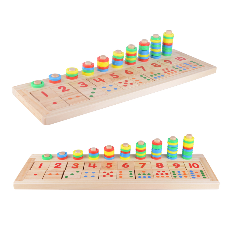 Montessori Baby Toy Early Educational Rainbow Houten Math Teaching - Leren en onderwijs