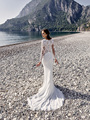 Deep V-neck Long Sleeve Mermaid Wedding Dress Lace Boho Bohemian Wedding Dresses with Long Sleeves Latest Wedding Gowns Mariage